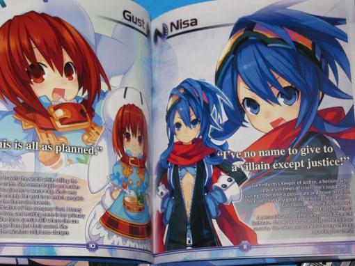 Hyperdimension Neptunia limited artbook samples